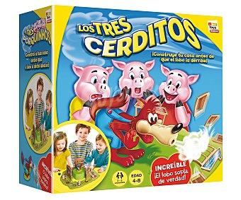 IMC Juego de Mesa Infantil Los Tres Cerditos, de 2 a 3 Jugadores 1 Unidad