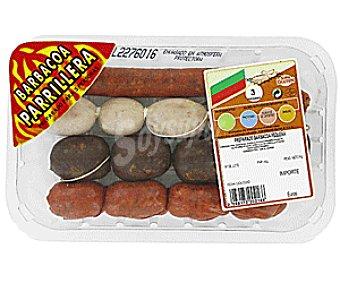 Emcesa Bandeja con preparado para barbacoa pequeña (3 personas), elaborado sin gluten 400 Gramos