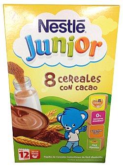 Junior Nestlé Papilla de 8 cereales al cacao Envase 600 g