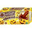 Sonrisas Choc galletas rellenas con chocolate sin aceite de palma envasadas individualmente Estuche 200 g Biscuits Galicia
