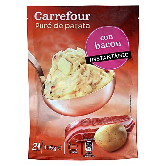 Carrefour Puré de patatas con bacon 105 g