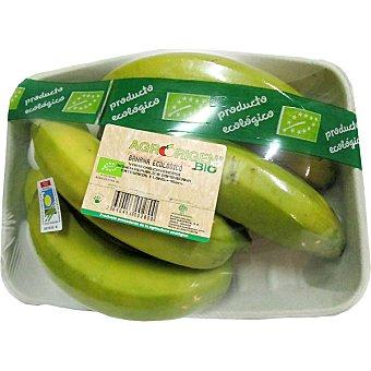 Banana ecológica peso aproximado bandeja 700 g