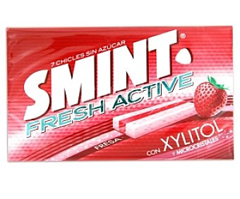 Smint Smint Fresh Active. Chicles fresa 18 Unidades