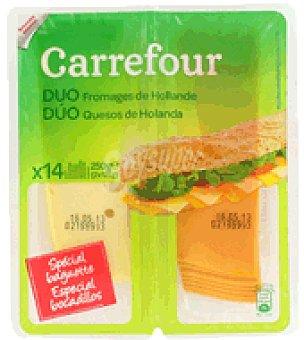Carrefour Dúo Quesos de Holanda pack de 2x125 g