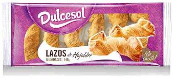Dulcesol Lazos de Hojaldre Dulcesol 6uds 140 gr