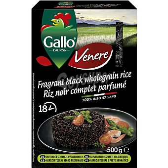 Riso Gallo Arroz integral negro Caja 500 g