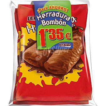 Eidetesa Herradura bombón de chocolate pack ahorro 2 unidades paquete 300 g Pack ahorro 2 unidades