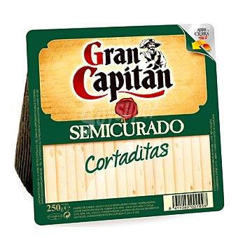 Gran Capitán Cortaditas queso semicurado cuña 250 g