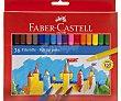 36 rotuladores, punta media y grosor de 1mm con tinta lavable de varios colores faber-castell  Faber Castell