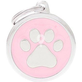 Placa identificativa para collares de perros esmaltada en material analergico 1 unidad
