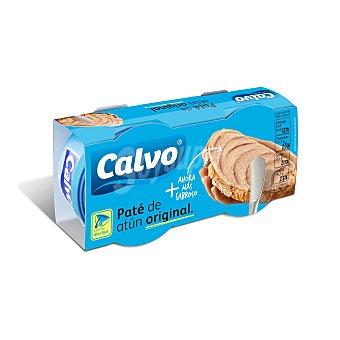 CALVO Paté de atún original 2 Unidades de 75 Gramos