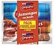 Salchichas jamongus con jamón Pack de 2 envases x 170 g Campofrío