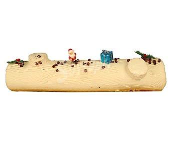 Pasteleria Tronco de navidad blanco, 800 gramos