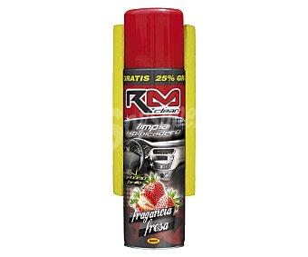 RM Clean Limpiador de salpicaderos con acabado brillante y dulce olor a fresa + bayeta de regalo 650 mililitros