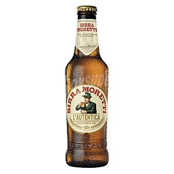 Birra Moretti Cerveza italiana rubia Botella 33 cl