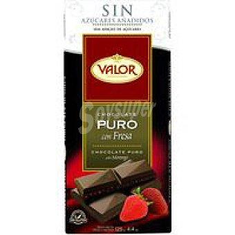 Valor Choco puro sin azucar con fresa 125 g