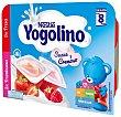 Postre lácteo con sabor a fresa y frambuesa especial para bebés a partir de 8 meses Pack 6 x 60 g Iogolino Nestlé