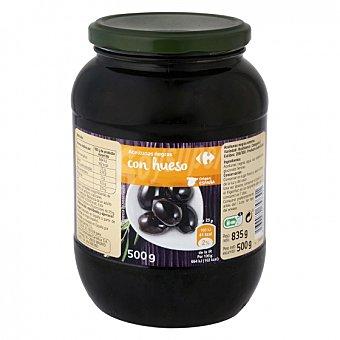 Carrefour Aceitunas negras con hueso 500 G 500 g