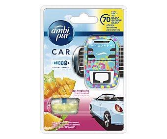 AMBIPUR CAR Ambientador de coche fruta tropical recambio 7ml