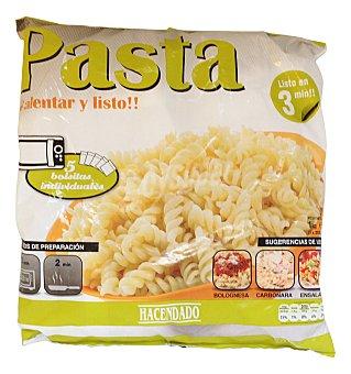 Hacendado Pasta helices precocido congelado microondas 200 g