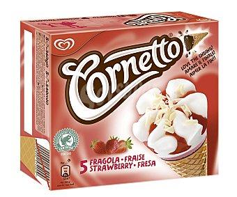 Cornetto Frigo Helados Conos Fresa 5 ud