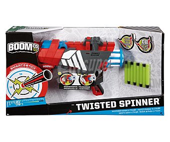 BOOM CO Lanzador de Dardos con Tambor Rotatorio Blaster Twised Spinner con 8 Dardos 1 Unidad