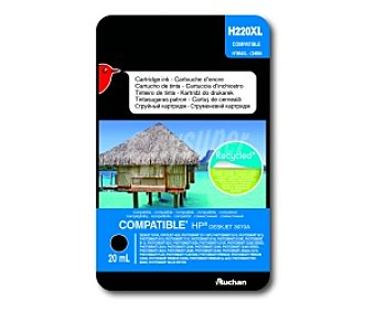 Auchan Cartucho Negro 364XL (H220XL) Compatible con impresoras: deskjet 3070A, ofifcejet 4620, photosmart 2011 wife, photosmart 5510 / 5515 / 6510 / 7510 / B109 / B109D / B110 / B207 / B209 / C310D / C5300 series / C5324 / C5380 / C5390 / C6300 seires / C6324 / C6380 / D5460 / photosmart estation C510