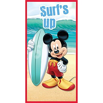 Mickey Mickey toalla de playa de con tabla de surf