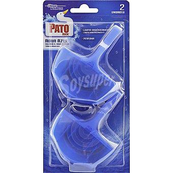 Pato desinfectante WC fragancia agua azul  pack 2 unidades