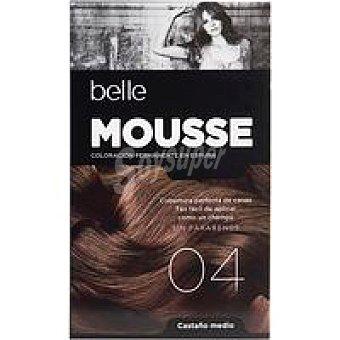 N.4 belle & PROFESSIONAL Tinte mousse cast. medio Caja 1 unid