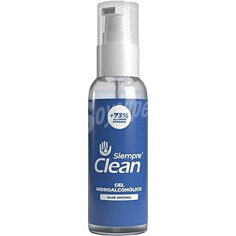 Siempre Gel hidroalcohólico higienizante 73% de alcohol olor original clean Dosificador 60 ml