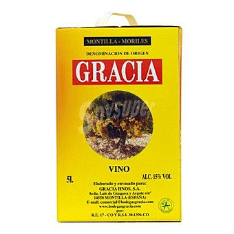 Corredera Vino Montilla Garrafa 5 litros