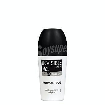 Deliplus Desodorante roll-on hombre antimanchas invisible (negro) Bote 50 ml