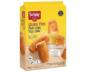 Schär Plum cake con yogur desnatado sin gluten 6 unidades Envase 198 g