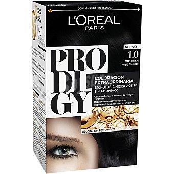 Prodigy L'Oréal Paris Tinte Obsidian Negro Profundo nº 1.0 coloración extraordinaria tecnología micro-aceite sin amoniaco Caja 1 unidad