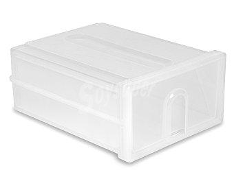 ARAVEN Caja de ordenación con un cajón de 45x34x19.5 centímetros y color blanco 1 Unidad
