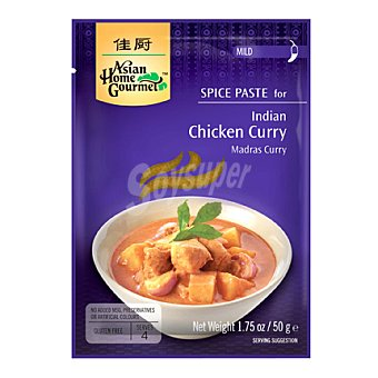 Asian Home Gourmet Pasta de especia para pollo al curry 50 g