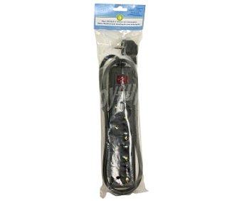 Productos Económicos Alcampo Base 4 tomas con interruptor, protección sobretensiones 1,5 Metros 1 unidad