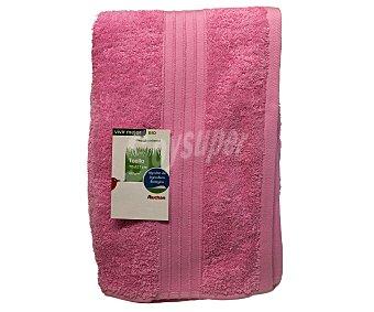 AUCHAN Toalla para ducha de algodón, estampado jacquard color rosa, 70x127 centímetros 1 Unidad