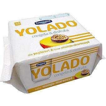 DANONE YOLADO yogur sabor mango y maracuyá para congelar  pack 4 unidades 75 g