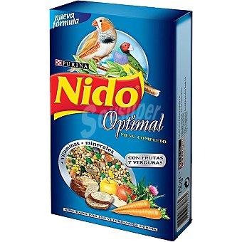 FRISKIES NIDO OPTIMAL menú completo para pájaros exóticos con frutas y verduras caja 750 g