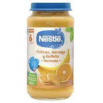 Nestlé Pequemerienda plátano, naranja y galleta 250 g