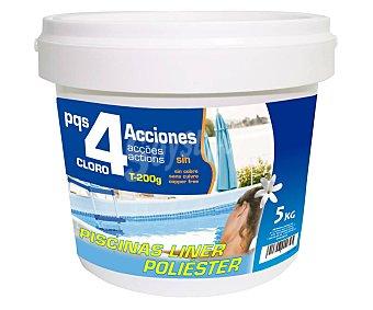 Pqs Tratamiento de 4 efectos: Desinfección, Estabilizador de Cloro, Algicida y Floculante, PQS.