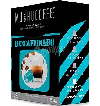 Mushu Cápsulas café descafeinado 10 unidades 50 g