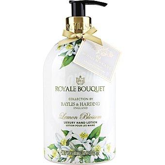BAYLIS & HARDING Royale Bouquet loción para las manos Limón en flor y Rosa Blanca dosificador  500 ml