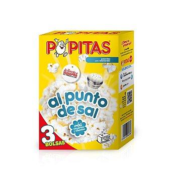 Popitas Borges Palomitas para microondas con sal sabor natural Pack de 3x100 g