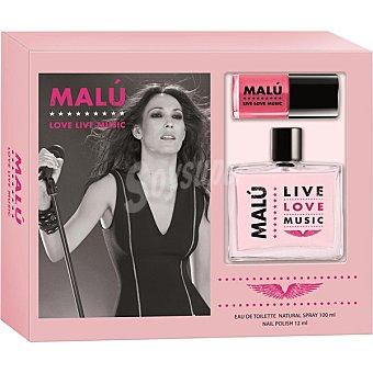 Malú Estuche colonia Love Live Music spray 100 ml. + laca uñas 12 ml. 1 ud