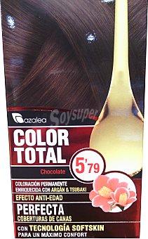 AZALEA Tinte coloración permanente color total Nº5.79 chocolate (enriquecido con aceite argán y tsubaki) u