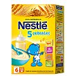Papilla 5 cereales  caja 600 gr Nestlé