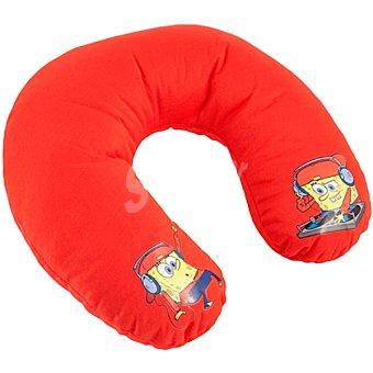 VIACOM Cojin Cervical para niño en color rojo con dibujo de Bop Esponja